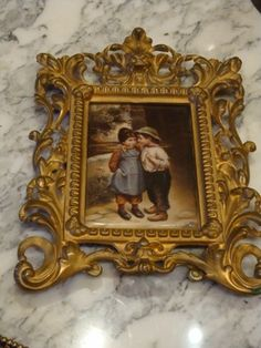 RARE 19TH C PORCELAIN KPM HUTSCHENREUTHER OF BOY AND GIRL THE SECRET