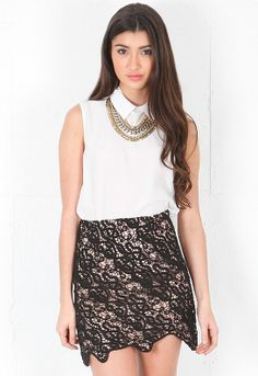Bless'ed Are The Meek Depths Skirt in Black