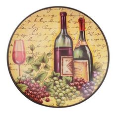 $6.99 Time for Wine Decorative Plate | Kirklands--  sc 1 st  Pinterest & A Glass of Wine Decorative Plate | Glass Decorating and Kitchens