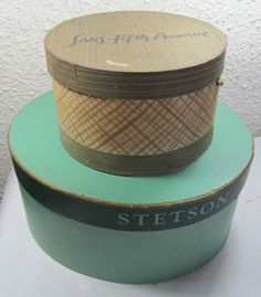 dating stetson hat boxes 1950's stetson 3 x beaver quality fedora gentleman's hat in pristine unworn condition and in the original stetson hat box the color is light grey with a black grosgrain ribbon hat band and bow on the left side, a crease in the crown and upturned brim the interior of the hat is lined in satin with.