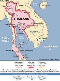 Thailand Malaria Map, geen problemen...