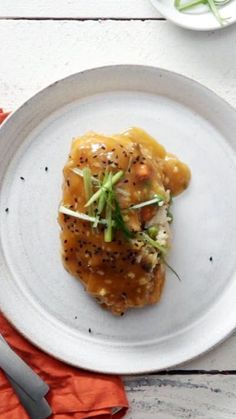Instead of having your citrusy-sweet orange chicken on a bed of fried rice, why not try it stuffed inside?