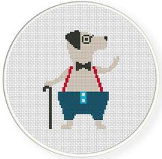 FREE for Dec 13th 2015 Only - Grandpa Dog Cross Stitch Pattern