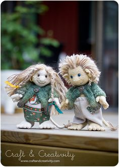 Forest Troll - Etsy pattern by Annie's Granny  I really love these to trolls, the picture would fitt perfect for my blog http://tekstiltrolden.dk very nice and beautiful work ;-)