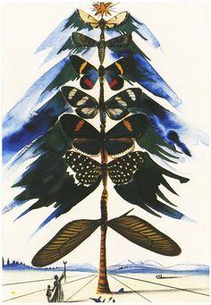 Beautiful Christmas card from Dali, 1959