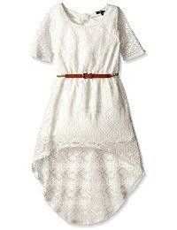 Sólido ganchillo alto / bajo del arco-Back My Michelle Girls 'Dress ...