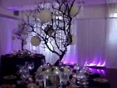 "Rent Manzanita Crystal Tree Centerpieces in NY, NJ & CT for your next event. Available in any color our 42""-48"" Manzanita Branches come with a 12 x 12 Anchor..."