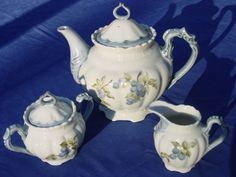 Blueberry tea set