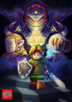 The Legend Of Zelda, Nintendo 3ds, Link Zelda, Zelda Hd, Fanart, Dragons, Art Graphique, Illustrations, Legos