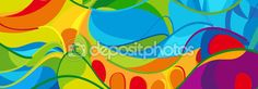 Rio 2016. Rio de Janeiro Brazil Abstract colorful wavy pattern. Olimpic Sport abstract background. Vector illustration — Stock Vector © sofiartmedia.gmail.com #116285316
