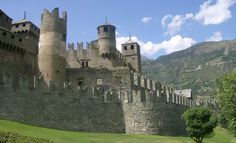 Fénis Castle is a medieval castle, the most visited of the Valle d'Aosta. Italy