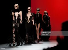 Models walk the runway during the Ion Fiz - Maria Escote Fashion Show as part of Cibeles Fashion Week A/W 2011 on February 22, 2011 in Madrid, Spain.