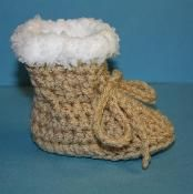 Fur Topped Booties - via @Craftsy