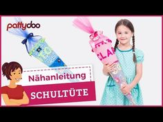 Schultüte aus Stoff mit Applikationen nähen - Tutorial & Freebie - YouTube Sewing, Youtube, Crochet, Dressmaking, Sewing Letters, Sewing Appliques, Couture, Stitching, Ganchillo