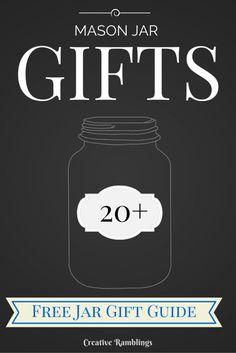 Creative Ramblings | The anatomy of a Jar Gift 20 Awesome Gift Ideas | http://www.creativeramblingsblog.com