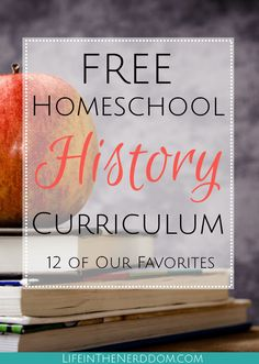 Looking for free homeschool history curriculum? I've got a list of truly incredible options for you that won't cost you a dime. - Free Homeschool History Curriculum - Life in the Nerddom Homeschool High School, Free Homeschool Curriculum, Online Homeschooling, Kindergarten Curriculum, History Activities, History Education, Teaching History, Education Uk, Waldorf Education
