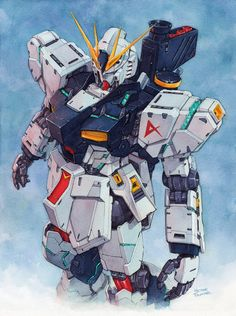 Mobile Suit Gundam - Char's Counterattack (RX93 Nu Gundam) by Hector Trunner