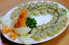 cach lam nem cong, cha phuong dep lung linh don tet ve - 2 Salad Design, Food Design, Diy Design, Vietnamese Cuisine, Vietnamese Recipes, Salty Cake, Bento Box, Creative Food, Food Art