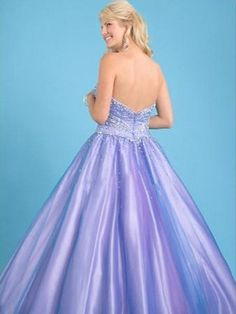 2012  Style Ball Gown Sweetheart  Beading  Sleeveless Floor-length Tulle  Lilac Prom Dress / Evening Dress