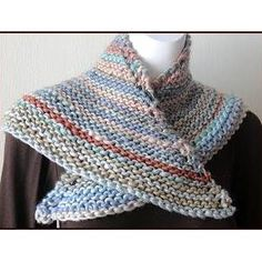 Triangle Shawlette FREE knitting pattern in Chunky Mochi by Crystal Palace Yarns