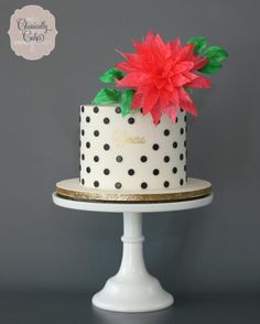 Black and White Polka Dot Cake by Classically Cakes