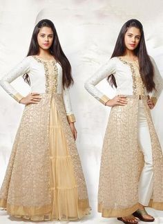 Designer White Kid's Lehenga With Salwar Kameez Look Dress Kids Frocks, Frocks For Girls, Girls Dresses, Baby Dresses, Dresses Dresses, Fashion Dresses, Indian Gowns Dresses, Indian Outfits, Western Girl Outfits