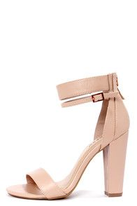 b9f0109605 15 Best Nude Shoes images | Nude shoes, Block heels, Shoes heels
