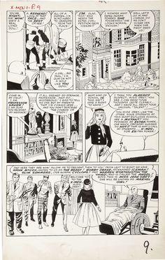 Stan Lee, Jack Kirby, Paul Reinman, Sam Rosen | X-Men #1, page 8, 1963. Original page, uncoloured. | #comics #marvel
