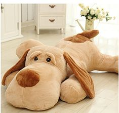 "DIS 59"" Super Giant Dog Teddy Huge Doll Cuddly Toy Stuffed Animals Plush Teddy Bear"