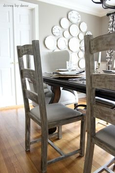 Ladderback+dining+room+chairs