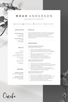 Resume Resume template Professional resume template Resume templates Curriculum vitae -Noah - Resume Template Ideas of Resume Template - If you like this cv template. Check others on my CV template board Thanks for sharing! Basic Resume Examples, Professional Resume Examples, Simple Resume, Creative Resume, Modern Resume, Resume Design Template, Business Plan Template, Cv Template, Resume Templates