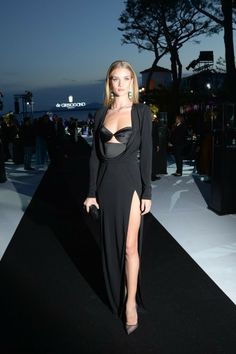 Rosie Huntington-Whiteley in Cushnie Et Ochs dress at the Grisogono Party at  67th Cannes Film Festival.