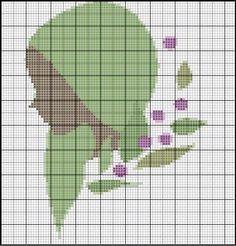 Borduurpatroon Sterrenbeeld Kruissteek *X-Stitch Pattern Zodiac ~Serie 2-9: Maagd 24-08/23-09 *Virgo~