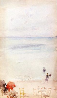 Note in Opal - The Sands, Dieppe, 1885, James McNeill Whistler