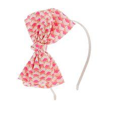Flower headband in sushi print #jcrew