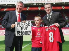 Sir Alex with Rooney in August 2004