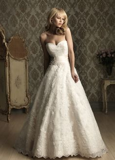 Lace & Satin A-line dress by Blushing Bride Couture