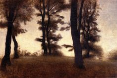 Tree Trunks, Arresodal, Frederiksværk Vilhelm Hammershoi - 1904 by BoFransson, via Flickr
