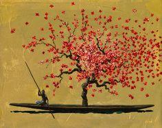 Paintings by Pedro Ruiz Hispanic American, Mexican Art, Contemporary Design, Dandelion, Illustration, Flowers, Inspiration, Image, Beauty