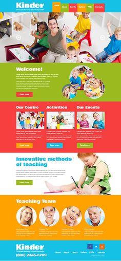 Template 48443 - Kindergaten & Children  Responsive Website Template