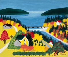 Ben Loman by the Sea by Maud Lewis
