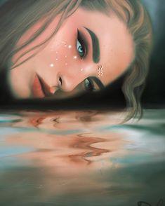 Aquarius Art, Aquarius Woman, Aquarius Zodiac, Scorpio, Zodiac Art, 12 Zodiac, Zodiac Signs, Digital Portrait, Horoscopes