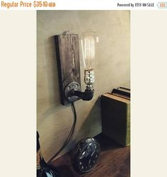15% OFF SALE ON Sale Industrial sconce by UrbanIndustrialCraft