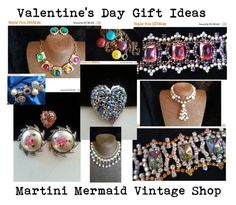 """""""Valentine's Day Gift Ideas"""" by martinimermaid ❤ liked on Polyvore featuring Gripoix, CORO and vintage"""
