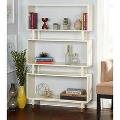 Simple Living Modern Margo Mid-Century 3-Shelf Bookshelf ...