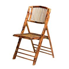 Bring the beauty of natural bamboo into your home with this earthy folding chair. Crafted in a classic style, this armless chair has a clear glossy finish, making it a charming porch chair. Product Fe