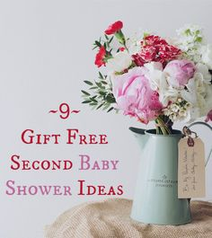 9 gift free baby shower ideas for your second (and subsequent) baby. #BabyShower #Baby #Pregnant #Pregnancy