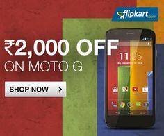 #Flipkart offering Flat Rs.2000 Off on Moto G - 8GB 16 GB. Grab this at its lowest price now. Buy Here - http://bit.ly/1qMnZD8