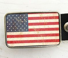 American Flag Belt Buckle by bmused on Etsy, $20.00