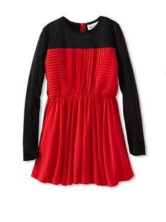 50% OFF A For Apple Girl's Gala Dress (Crimson)